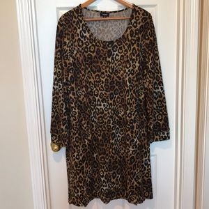 Gorgeous Tacera 3X Leopard Print Dress W/ Pockets